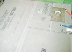 Bathroom Floor During